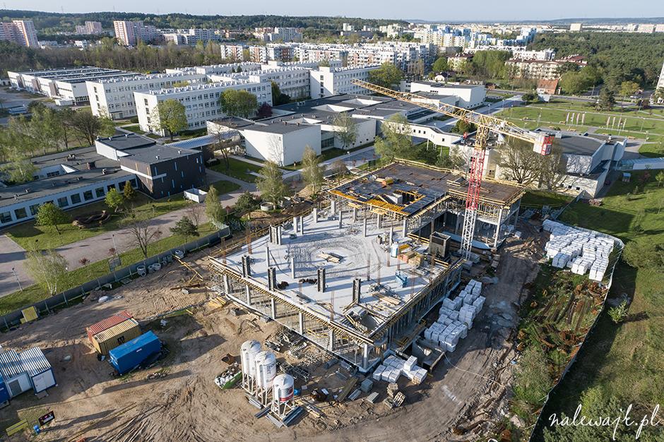 zdjęcia plac budowy dron