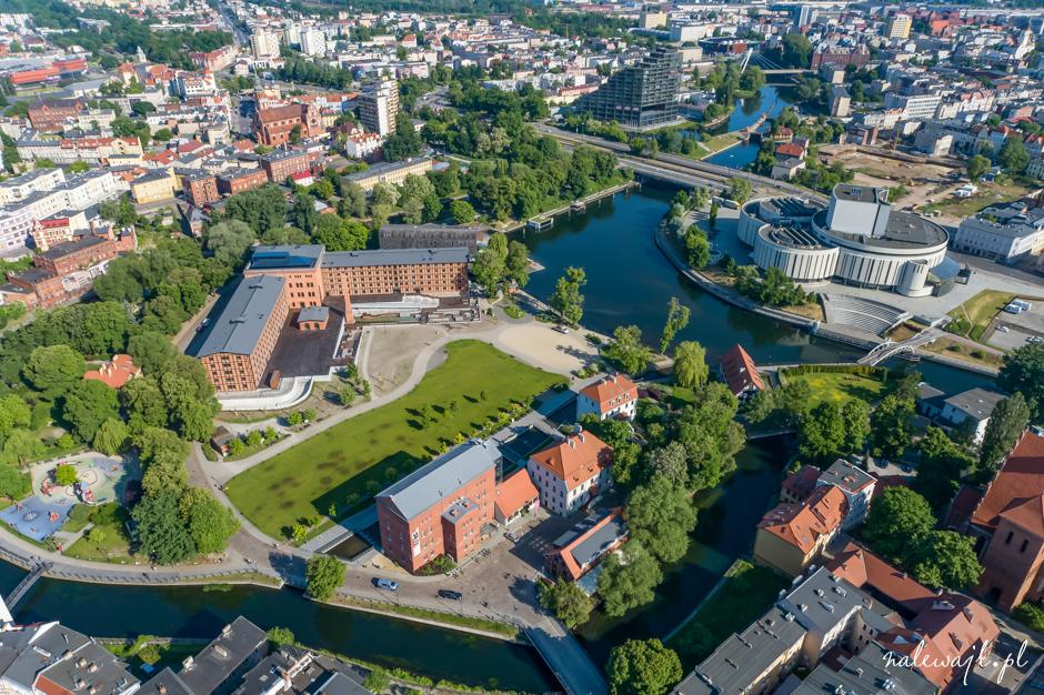 Młyny Rothera | Wyspa Młyńska | Bydgoszcz | Zdjęcia nieruchomości z drona