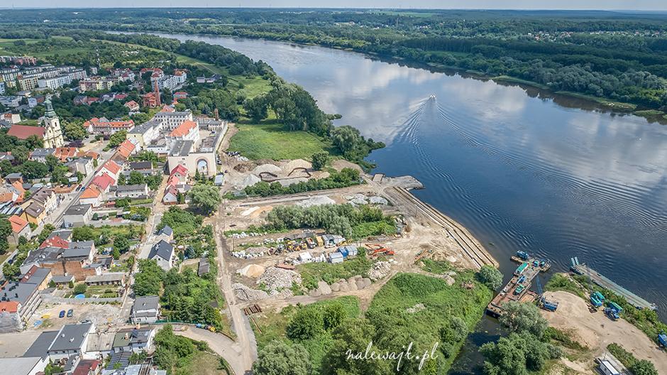 Stary Fordon | Rewitalizacja nadbrzeża Wisły | Zdjęcia inwestycji z wysokości