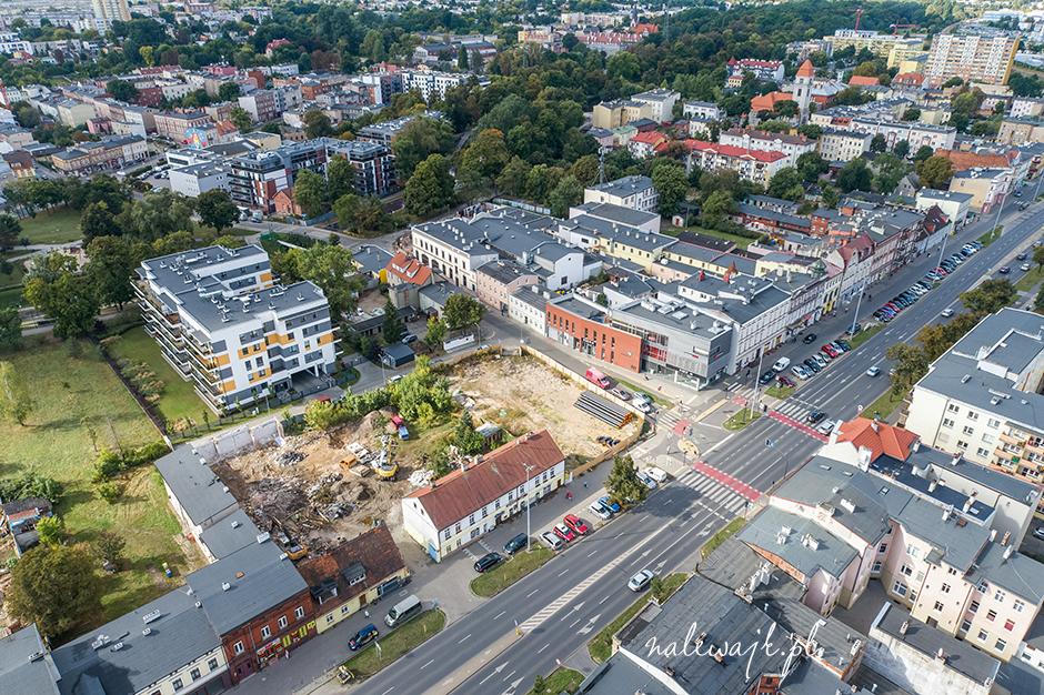 Apartamenty Grunwaldzka 25 | Inwestycja mieszkaniowa | Zdjęcia z drona